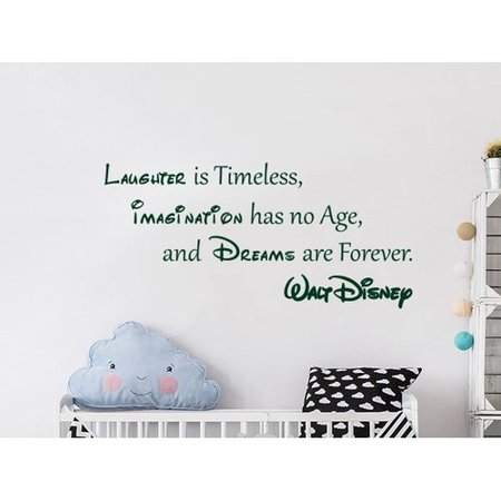 - Decal House Quote Mickey Mouse Vinyl Sticker Laughter is Timeless Nursery Wall Decal