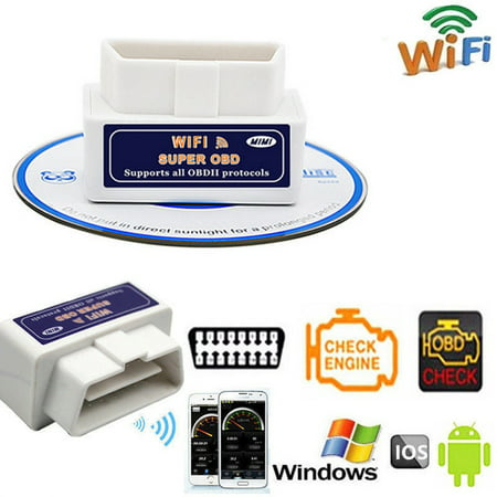 Super WiFi V1.5 OBD2 OBDII Car Auto Diagnostic Scanner Tool for iPhone