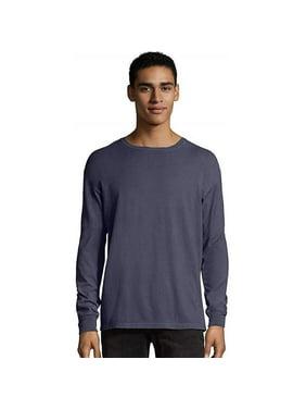 Comfortwash 738994674500 Mens Comfort Wash Garment Dyed Long Sleeve Tee, GD Purple Plum Raisin - 4XL