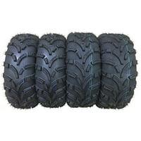 Set of 4 New WANDA ATV/UTV Tires 25x8-12 Front & 25x10-12 Rear /6PR P373