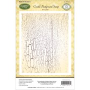 """JustRite Papercraft Cling Background Stamp 4.5""""X5.75""""-Crackle"""