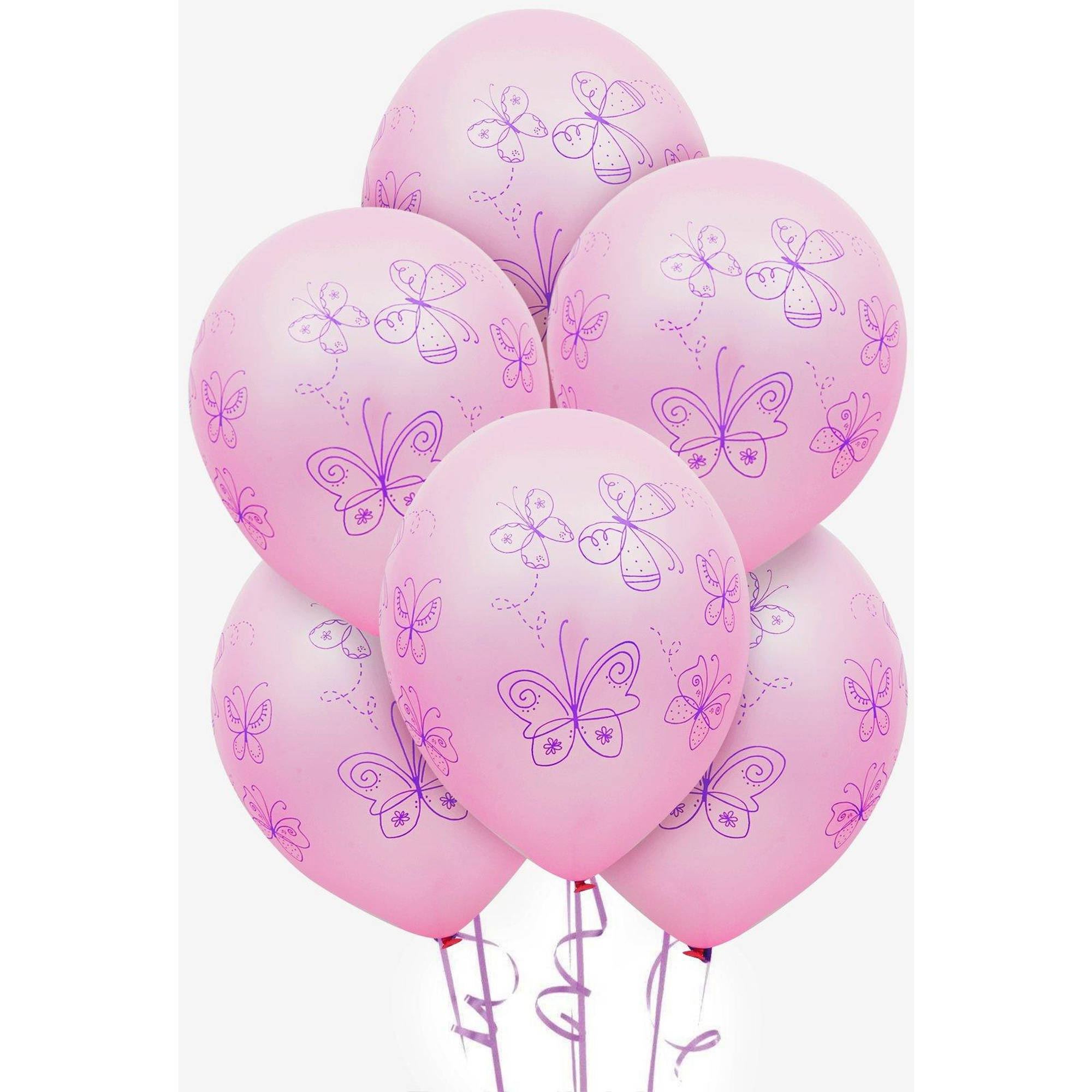 Butterfly Party Latex Balloons, 6pk
