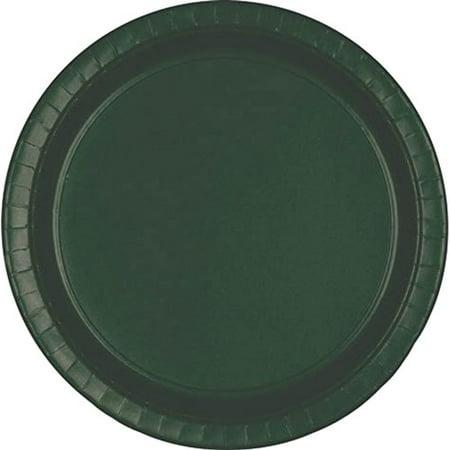 Forest Green Dessert Plates 24ct - Green Plates