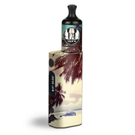 Skin Decal Vinyl Wrap for Aspire Zelos 50W starter Kit Vape Skins Stickers Cover / Palm Trees Vintage Beach island