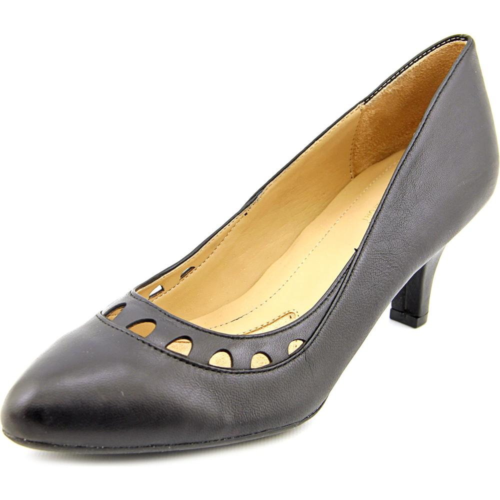 Naturalizer Dagley Women Pointed Toe Leather Black Heels by Naturalizer