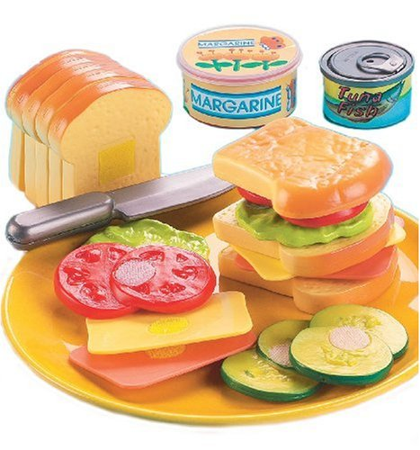 Living Country Club Sandwich 21 Pc. Playset, USA, Brand Small World Toys by
