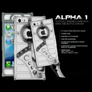 TactiCall Alpha 1 iPhone 5 Case, Black Out Multi-Colored