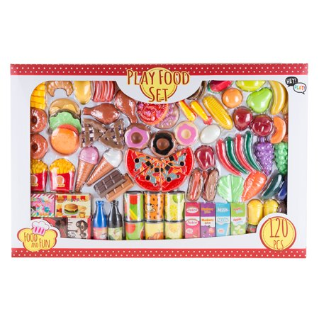 Pretend Play Assorted Food Set - Fresh, Boxed and Canned Food by Hey! Play! ()