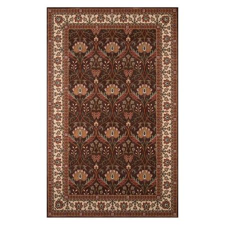 Momeni Persian Garden Fanfare PG-12 Oriental Rug - Cocoa