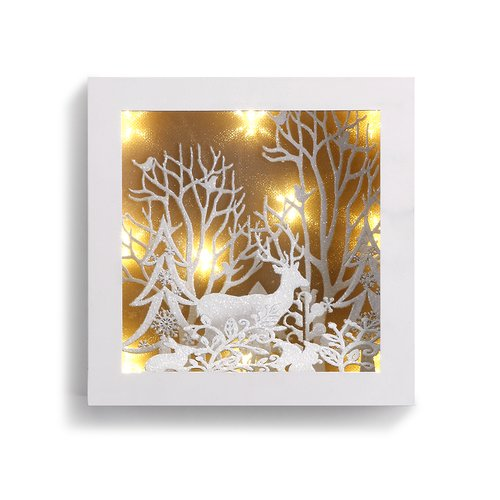 Everly Quinn Faustina Small Lit Woodland Scene Decor
