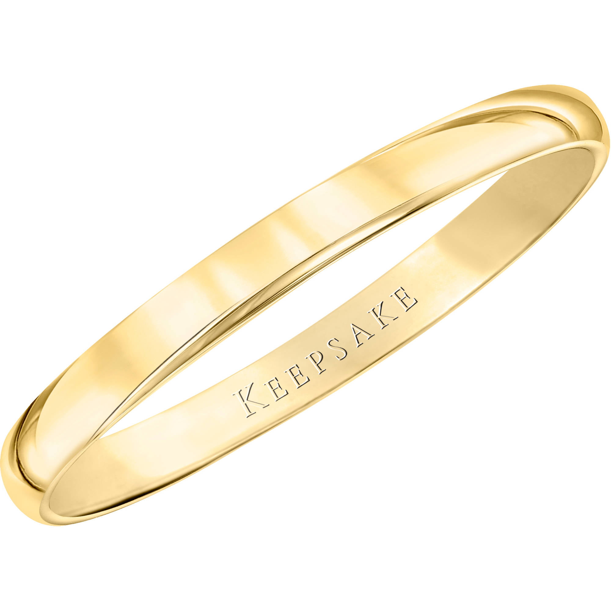 Keepsake 10kt Yellow Gold Wedding Band With HighPolish Finish 5mm