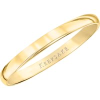 10kt Yellow Gold Wedding Band, 2mm