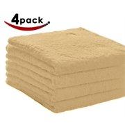 Pacific Linens Bath Towels Beige, 27 x 54 Inches, 4-Pack Luxurious 100% Cotton Hotel and Spa, Absorbent 600 GSM quality, Beige