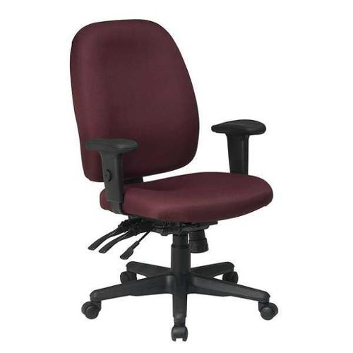 OFFICE STAR 43819-227 Ergonomic Office Chair, Fabric, Burgundy
