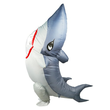 Inflatable Shark Costume Adult Halloween Party Electric Fan Blow Up