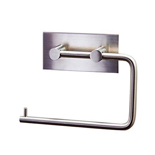 Lingstar Self Adhesive SUS 304 Stainless Steel Toilet Paper Holder Storage Bathroom Kitchen Paper Towel Dispenser Tissue... by