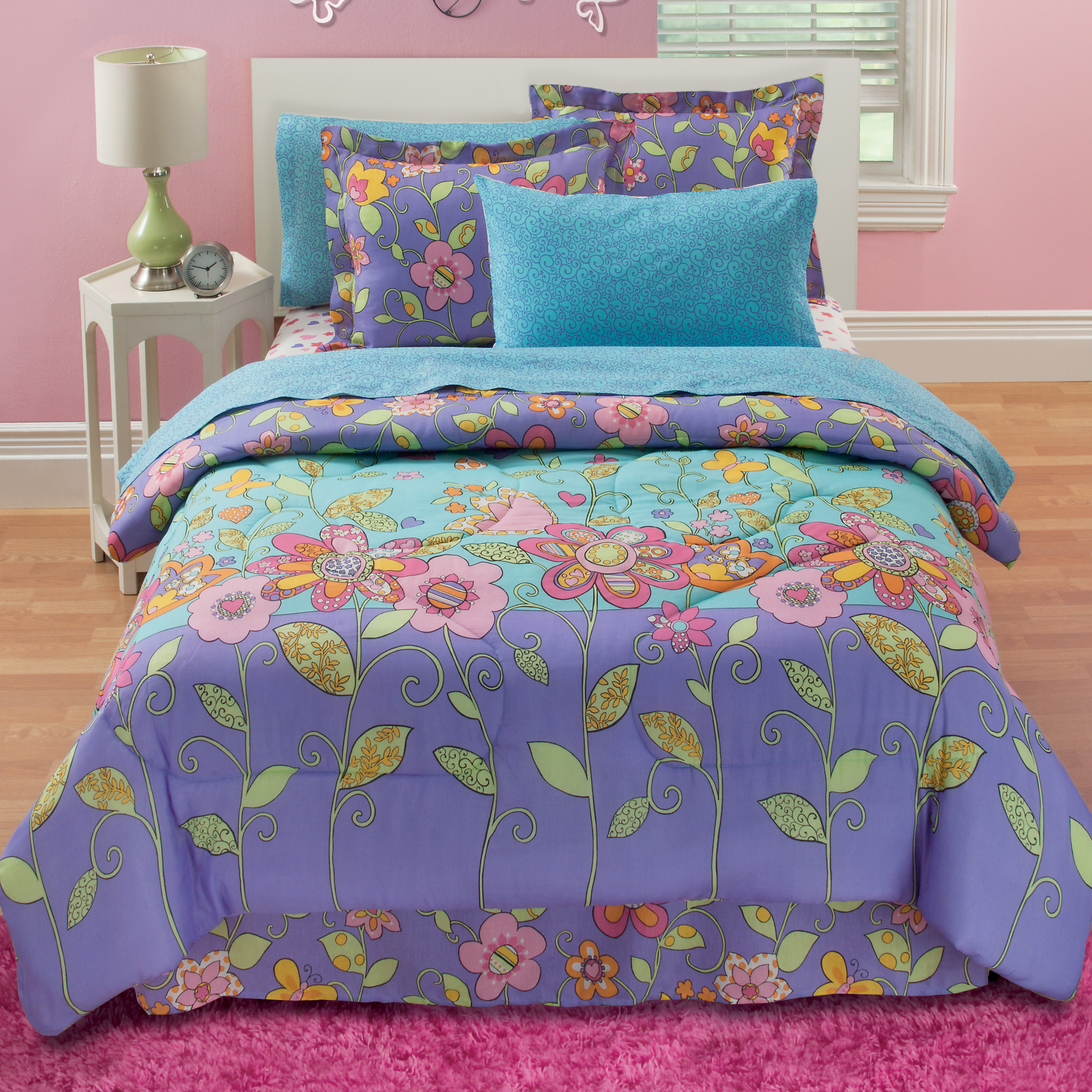 Garden Party Reversible Complete Bedding Set