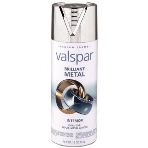 Valspar Brand 465-66010 SP 12 Oz Silver Brilliant Metal Spray Paint - Pack of 6