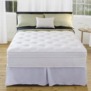 Priage  13-inch Euro Box Top King-size iCoil Spring Mattress and Steel Foundation Set