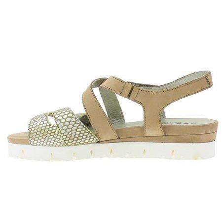 Sabrinas 55004 Ibiza Womens Nubuck & Reptile Leather Sandals Onyx Taupe 41 US 10
