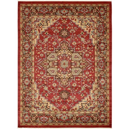 Southwesternlodge Azar Collection Area Rug In Merlot Color