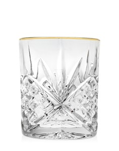 goldrimmed leaded crystal double old fashioned whiskey glasses set