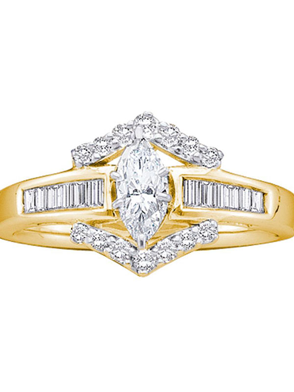 4.43 Ct Diamond Enhancer Engagement Bridal Wrap Ring Sz 7 14K Yellow Gold Over