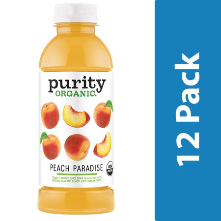 Organic Peach (Purity Organic Peach Paradise, 16.9oz, 12 Count )