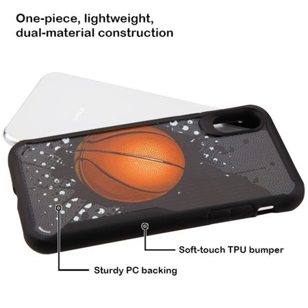 iPhone X Case iPhone XS Case by Insten Vista Slam Dunk Dual Layer [Shock Absorbing] Hybrid Hard Plastic/Soft TPU Rubber Clear Case Cover For Apple iPhone X/XS, Black - image 2 of 4