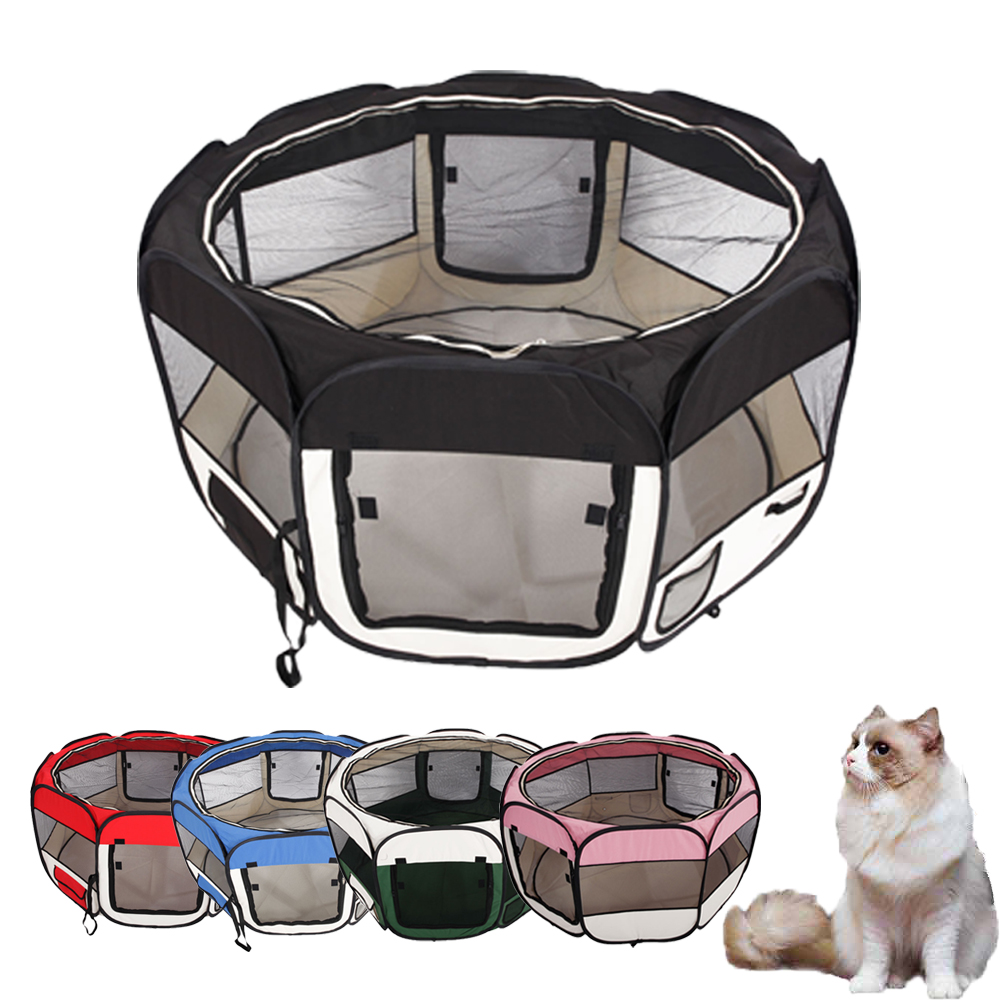 "UBesGoo 45"" Kennel Pet Fence Puppy Soft Oxford Playpen Exercise Pen Folding Crate 5 Color"