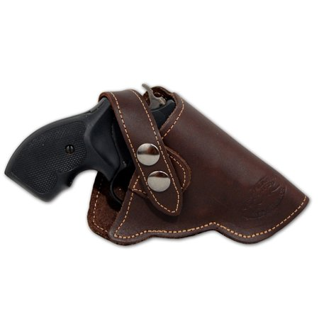 Barsony Right Hand Draw Brown Leather Outside the Waistband Gun Holster Size 2 Charter Arms Rossi Ruger LCR S&W  .22 .38 .357 Revolvers (Laser Pistol Grips Ruger Lcr)