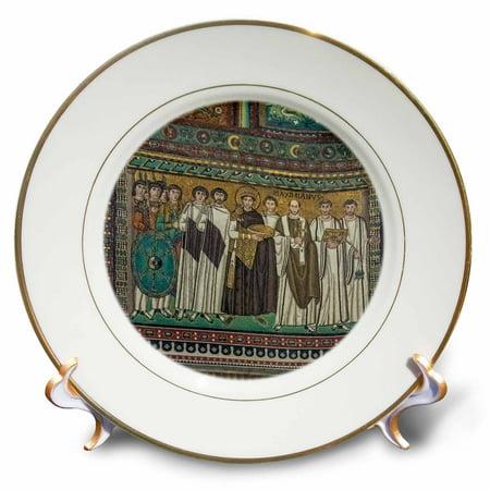 3dRose Italy, Ravenna, Basilica of San Vitale Mosaic - Porcelain Plate,