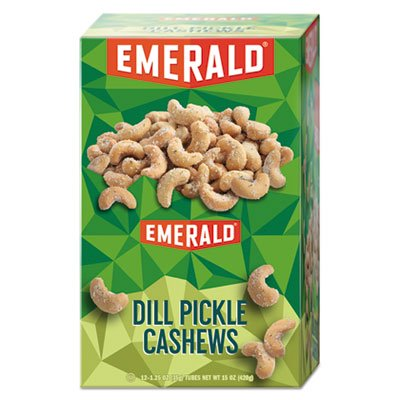 Diamond Food 94117 Snack Nuts, Dill Pickle Cashews, 1.25 Oz Tube, 12/box