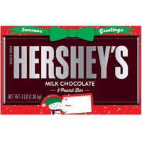 Hershey's, Holiday Milk Chocolate Bar, 3 Lbs