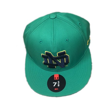 Notre Dame Fighting Irish Under Armour Baseball Fitted Hat Cap Size 7 5 8 -  Walmart.com f12431f7fb8