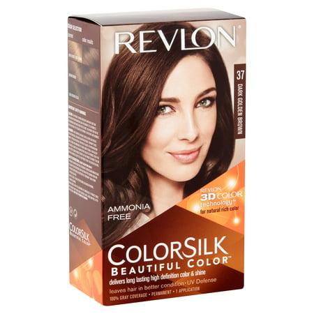 Revlon Colorsilk Beautiful Color Permanent Hair Dark Golden Brown 37