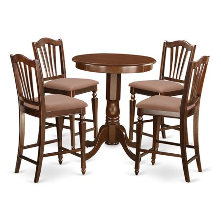 pc counter height set high table and 4 dining chairs