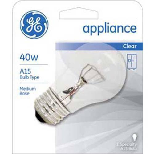 GE Clear Incandescent Appliance 40-Watt A15, 12 Bulbs