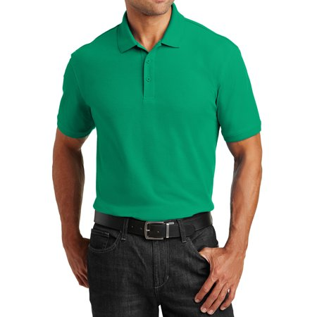 Mens Climacool Pique Polo Shirt - Mafoose Men's Short Sleeves Core Classic Pique Polo T-Shirt Everyday Wear Bright Kelly Green X-Small