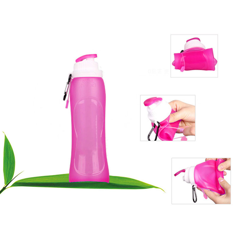 New Creative Silicone Foldable Sports Bottle Convenient Travel Cups RD