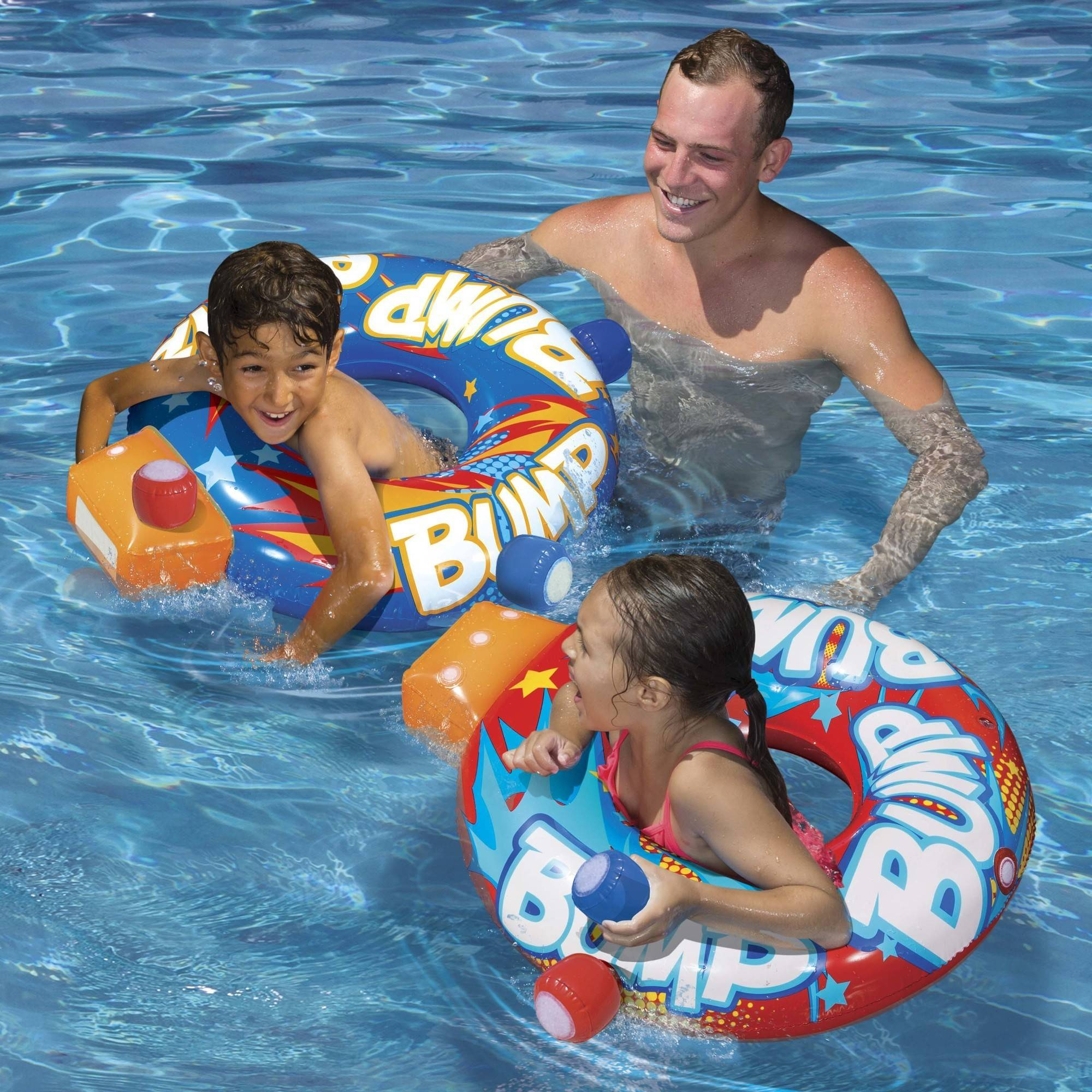 Banzai Bumper Tag Pool Game Inflatable Pool Lounge Toy Pool Toys