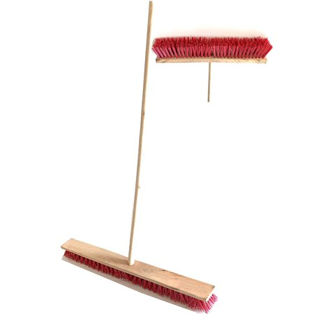 Multi Surface Heavy Duty Industrial Push Broom Rough Surface Sweeper Brush with Stiff Bristles 1.2 m Handle -for Residential, Warehouse & Contractors, Lawn & Garden, Indoor&Outdoor (Garden Broom)