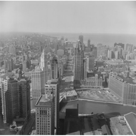 Usa Illinois Chicago Downtown From Prudential Building Canvas Art     24 X 36