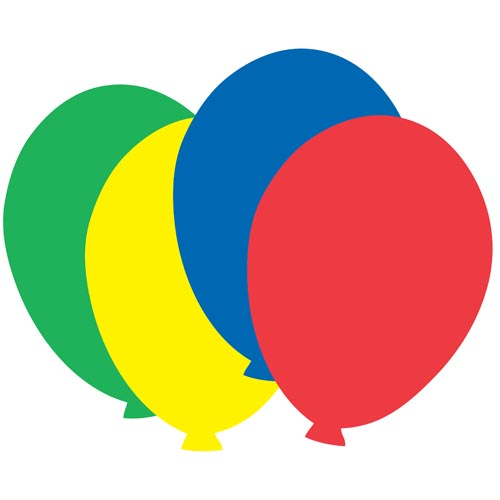 """Balloon Construction Paper Cut-Outs by Artistic Creations (24 pieces, approx. 8x10"""")"""