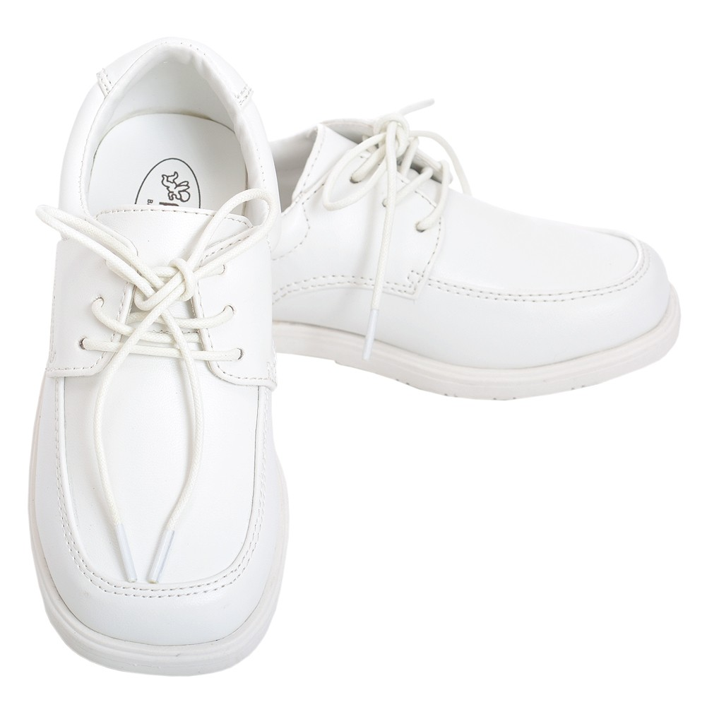 Angel White Lace Up Oxford Christening Shoe Baby Boy 3-To...