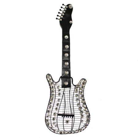 Ec World Imports Rock Forever 35 Stratocaster Electric Guitar Hanging Metal Art Wall Decor