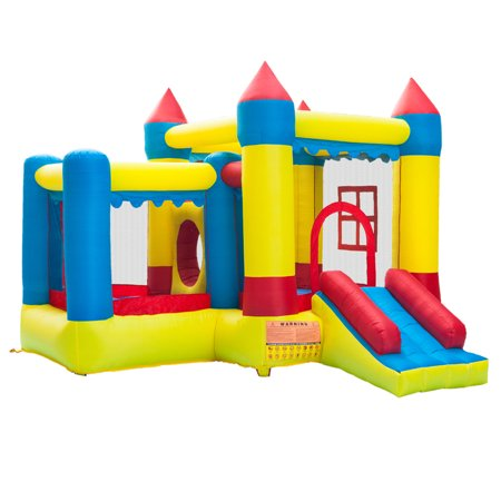 Zimtown Inflatable Bounce House Castle Ball Pit Jumper Moonwalk Bouncer Without Blower for Kids Play