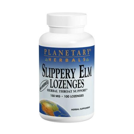 Planetary Herbals Slippery Elm Lozenges, Tangerine, 100 Count