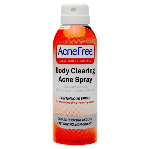 Acnefree Clear Skin Treatments Body Clearing Acne Spray - 5 Oz, 6 Pack