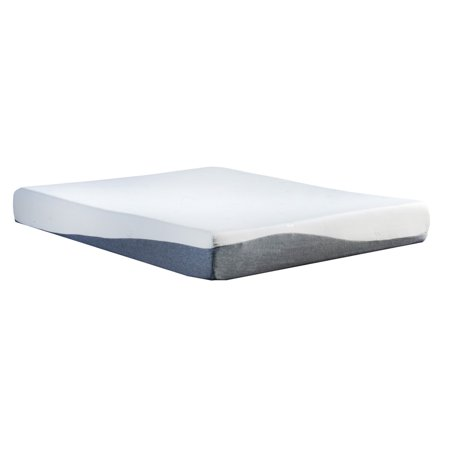 "10"" High-Density Gel & Memory Foam Queen Size Mattress, W/Bamboo Cover"